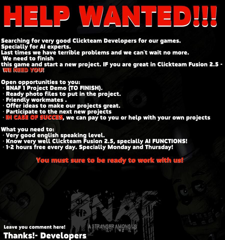 Bloody Nights at Freddy's: A Stranger Among Us (FNaF fan