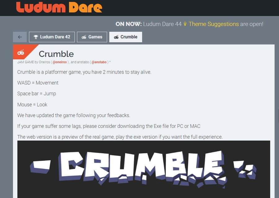 Crumble by anstabo - Game Jolt