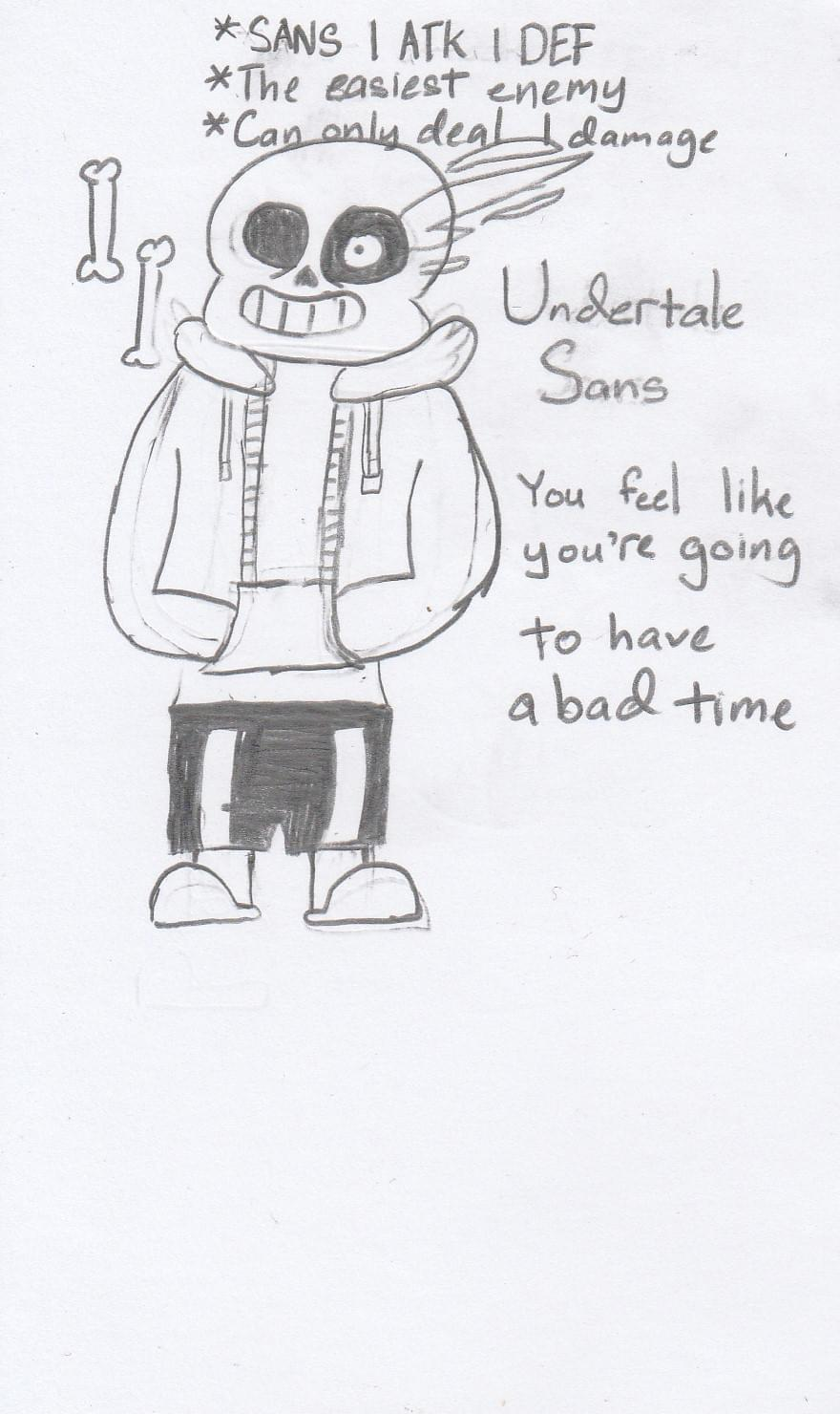 Sans2 0 On Game Jolt This Is My Second Drawing And It Is Undertale Sans If You Feel Li