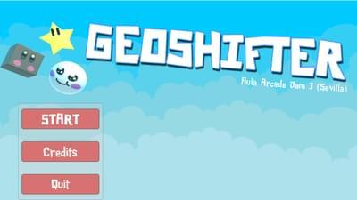 Juego indie geoshifter en la #aulaarcadegamejam3